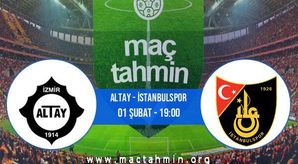 Altay - İstanbulspor İddaa Analizi ve Tahmini 01 Şubat 2021