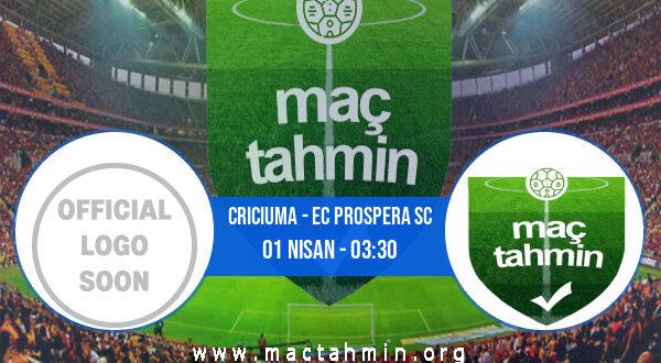 Criciuma - EC Prospera SC İddaa Analizi ve Tahmini 01 Nisan 2021