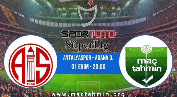 Antalyaspor - Adana D. İddaa Analizi ve Tahmini 01 Ekim 2021