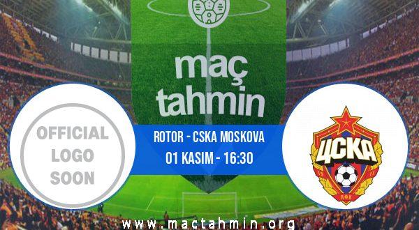 Rotor - CSKA Moskova İddaa Analizi ve Tahmini 01 Kasım 2020