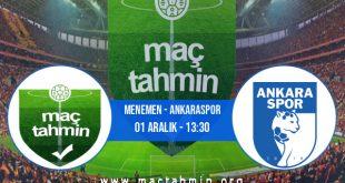 Menemen - Ankaraspor İddaa Analizi ve Tahmini 01 Aralık 2020