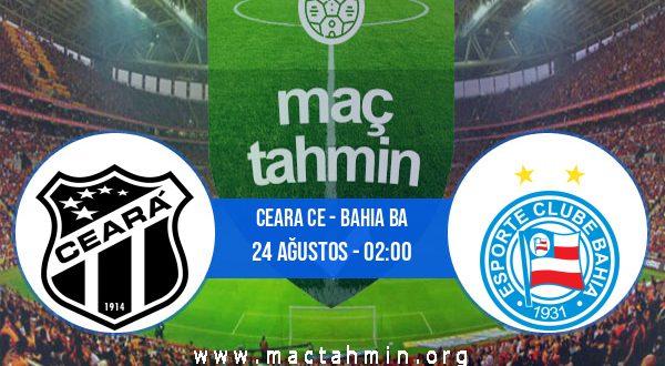 Ceara CE - Bahia BA İddaa Analizi ve Tahmini 24 Ağustos 2020