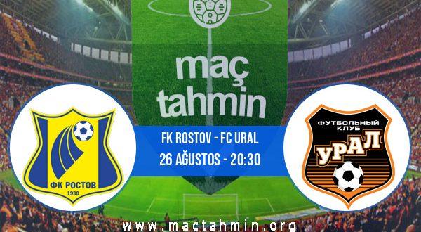 FK Rostov - FC Ural İddaa Analizi ve Tahmini 26 Ağustos 2020