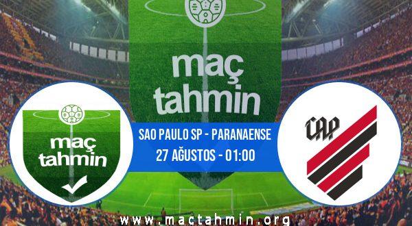 Sao Paulo SP - Paranaense İddaa Analizi ve Tahmini 27 Ağustos 2020