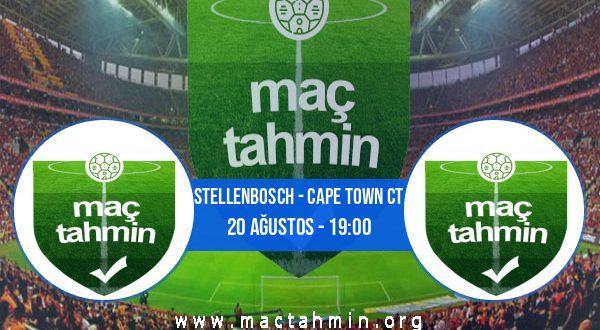 Stellenbosch - Cape Town Ct İddaa Analizi ve Tahmini 20 Ağustos 2020
