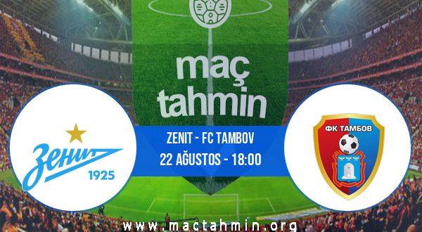 Zenit - FC Tambov İddaa Analizi ve Tahmini 22 Ağustos 2020