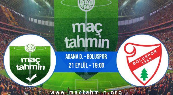 Adana D. - Boluspor İddaa Analizi ve Tahmini 21 Eylül 2020