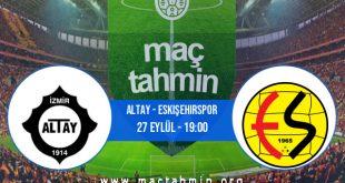 Altay - Eskişehirspor İddaa Analizi ve Tahmini 27 Eylül 2020
