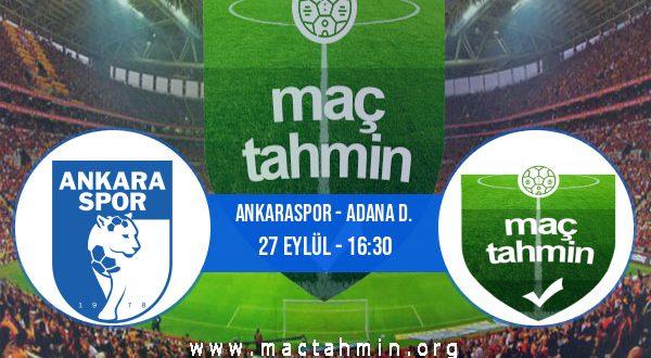 Ankaraspor - Adana D. İddaa Analizi ve Tahmini 27 Eylül 2020