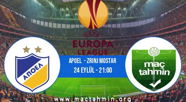 Apoel  - Zrinj Mostar İddaa Analizi ve Tahmini 24 Eylül 2020