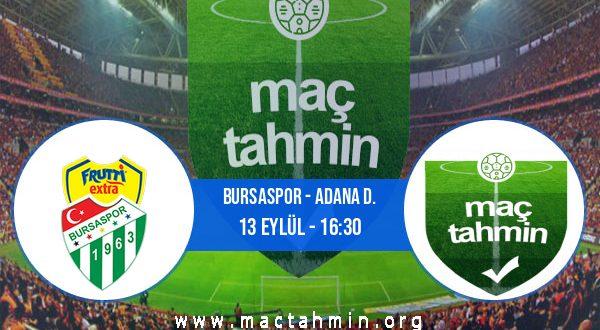 Bursaspor - Adana D. İddaa Analizi ve Tahmini 13 Eylül 2020