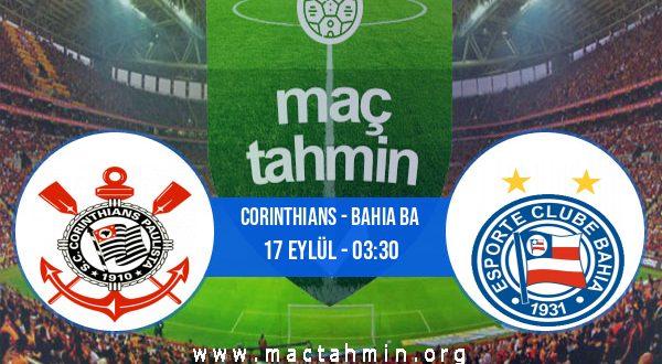 Corinthians - Bahia BA İddaa Analizi ve Tahmini 17 Eylül 2020