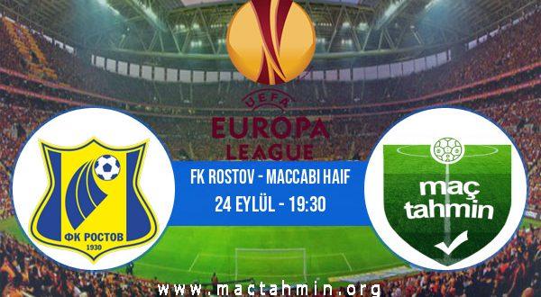FK Rostov - Maccabi Haif İddaa Analizi ve Tahmini 24 Eylül 2020