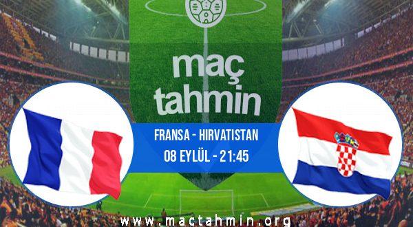 Fransa - Hırvatistan İddaa Analizi ve Tahmini 08 Eylül 2020