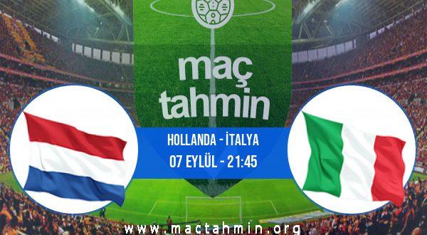Hollanda - İtalya İddaa Analizi ve Tahmini 07 Eylül 2020