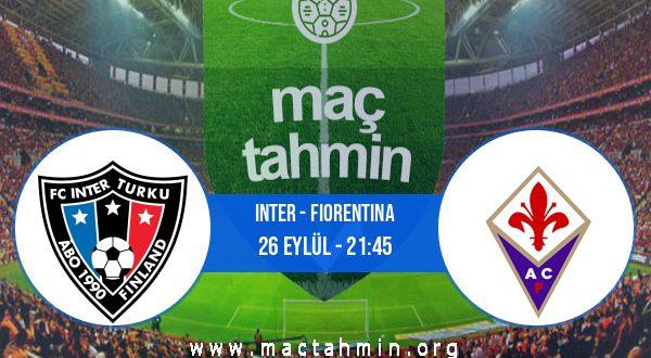 Inter - Fiorentina İddaa Analizi ve Tahmini 26 Eylül 2020