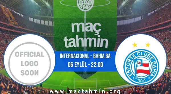 Internacional - Bahia BA İddaa Analizi ve Tahmini 06 Eylül 2020