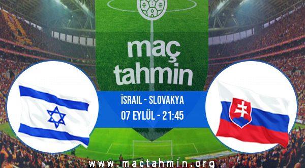 İsrail - Slovakya İddaa Analizi ve Tahmini 07 Eylül 2020