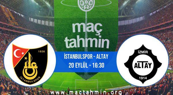 İstanbulspor - Altay İddaa Analizi ve Tahmini 20 Eylül 2020