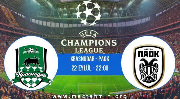Krasnodar - PAOK İddaa Analizi ve Tahmini 22 Eylül 2020