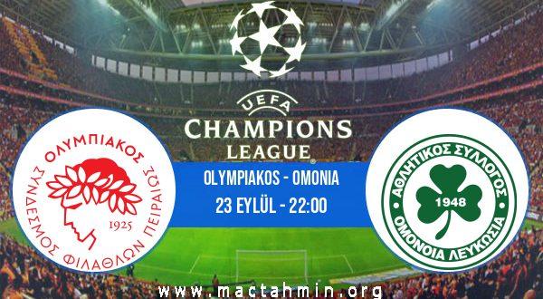 Olympiakos - Omonia İddaa Analizi ve Tahmini 23 Eylül 2020