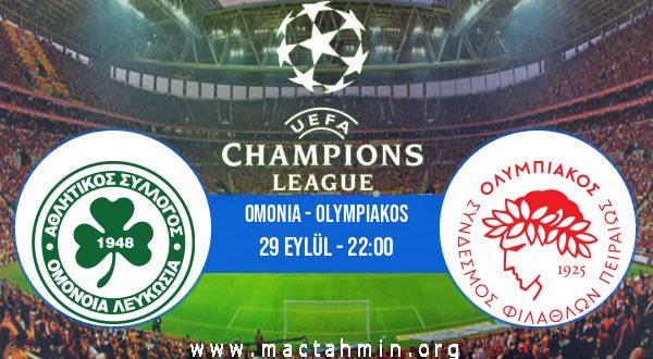 Omonia - Olympiakos İddaa Analizi ve Tahmini 29 Eylül 2020