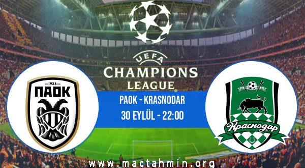 PAOK - Krasnodar İddaa Analizi ve Tahmini 30 Eylül 2020