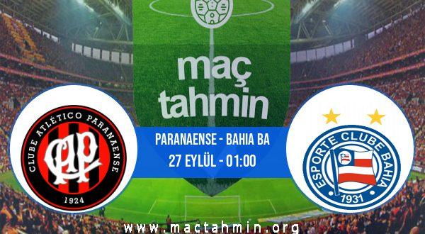 Paranaense - Bahia BA İddaa Analizi ve Tahmini 27 Eylül 2020
