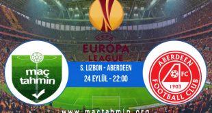 S. Lizbon - Aberdeen İddaa Analizi ve Tahmini 24 Eylül 2020