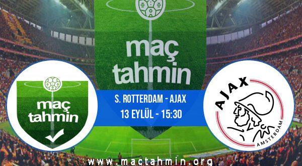 S. Rotterdam - Ajax İddaa Analizi ve Tahmini 13 Eylül 2020