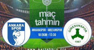 Ankaraspor - Giresunspor İddaa Analizi ve Tahmini 18 Ekim 2020