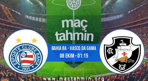 Bahia BA - Vasco Da Gama İddaa Analizi ve Tahmini 08 Ekim 2020