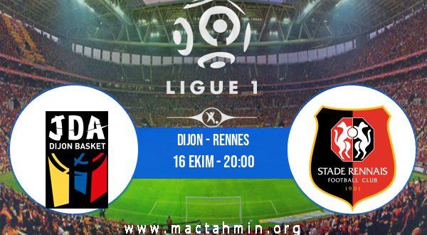 Dijon - Rennes İddaa Analizi ve Tahmini 16 Ekim 2020