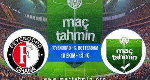Feyenoord - S. Rotterdam İddaa Analizi ve Tahmini 18 Ekim 2020