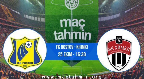 FK Rostov - Khimki İddaa Analizi ve Tahmini 25 Ekim 2020