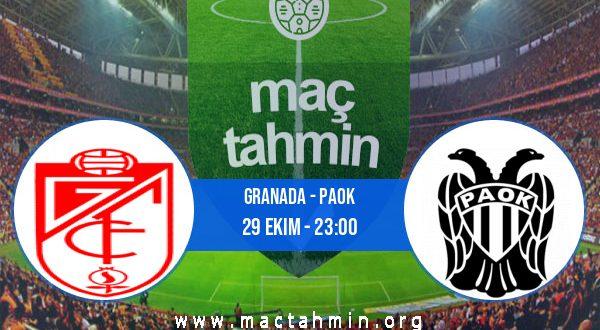 Granada - PAOK İddaa Analizi ve Tahmini 29 Ekim 2020