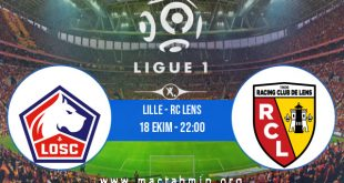 Lille - RC Lens İddaa Analizi ve Tahmini 18 Ekim 2020
