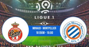 Monaco - Montpellier İddaa Analizi ve Tahmini 18 Ekim 2020