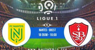 Nantes - Brest İddaa Analizi ve Tahmini 18 Ekim 2020