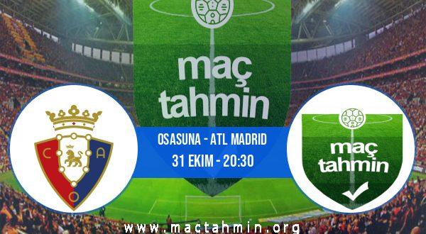 Osasuna - Atl Madrid İddaa Analizi ve Tahmini 31 Ekim 2020