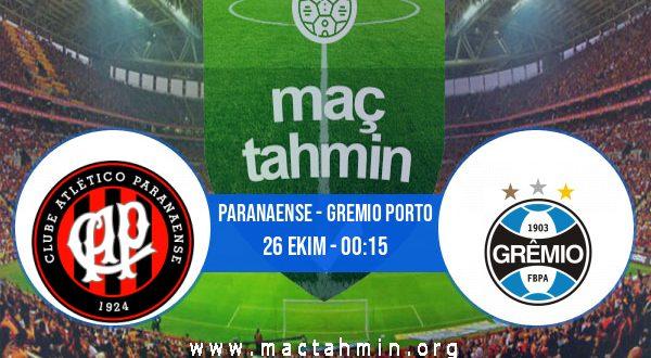 Paranaense - Gremio Porto İddaa Analizi ve Tahmini 26 Ekim 2020
