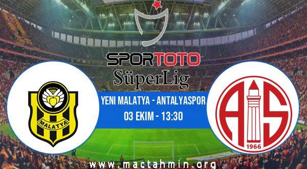 Yeni Malatya - Antalyaspor İddaa Analizi ve Tahmini 03 Ekim 2020