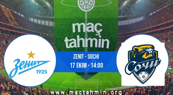 Zenit - Sochi İddaa Analizi ve Tahmini 17 Ekim 2020