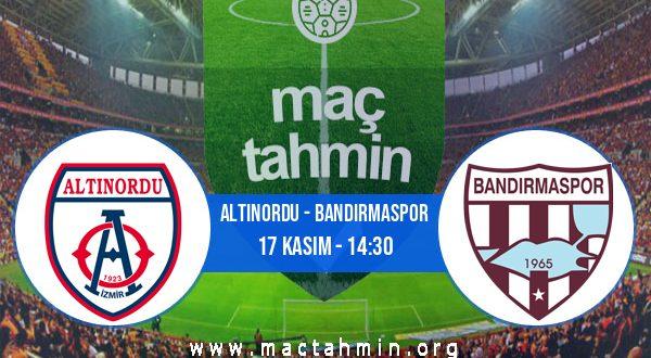 Altınordu - Bandırmaspor İddaa Analizi ve Tahmini 17 Kasım 2020