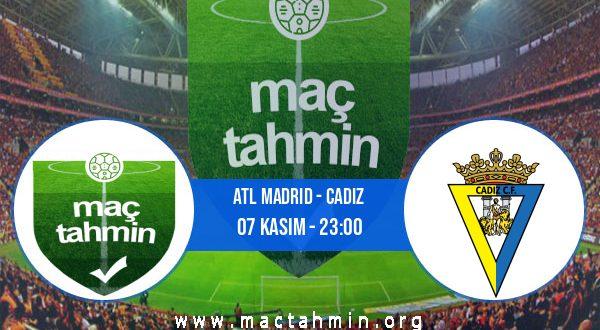 Atl Madrid - Cadiz İddaa Analizi ve Tahmini 07 Kasım 2020