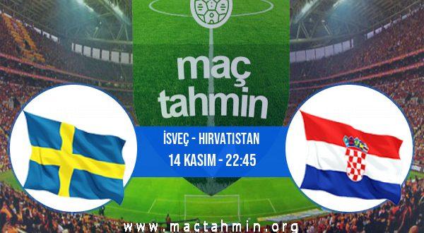 İsveç - Hırvatistan İddaa Analizi ve Tahmini 14 Kasım 2020
