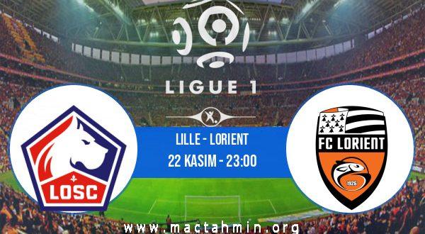 Lille - Lorient İddaa Analizi ve Tahmini 22 Kasım 2020