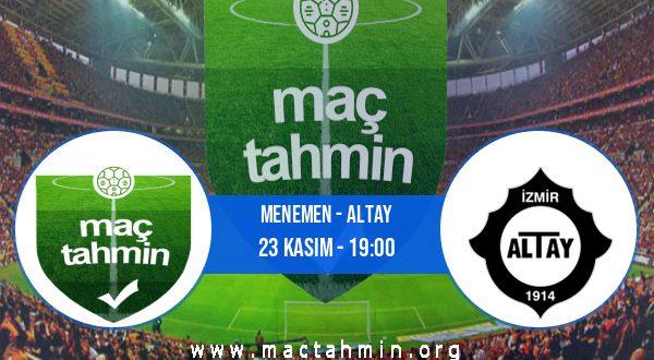 Menemen - Altay İddaa Analizi ve Tahmini 23 Kasım 2020
