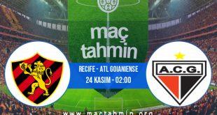 Recife - Atl Goianiense İddaa Analizi ve Tahmini 24 Kasım 2020