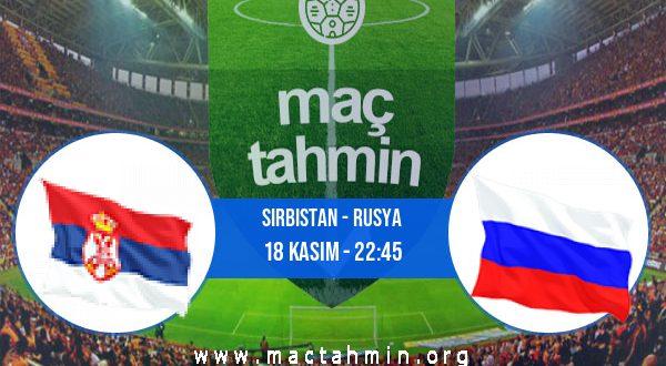 Sırbistan - Rusya İddaa Analizi ve Tahmini 18 Kasım 2020